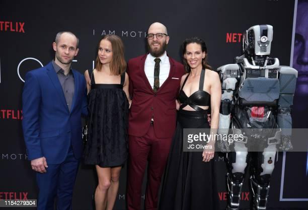 Luke Hawker actress Clara RugaardLarsen Director Grant Sputore and actress Hilary Swank attend the LA Special Screening Of Netflix's 'I Am Mother' at...