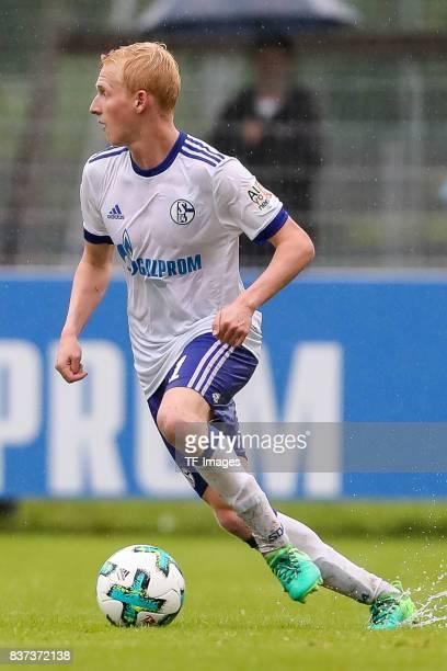 Luke Hemmerich of Schalke controls the ball during the preseason friendly match between FC Schalke 04 and Neftchi Baku on July 26 2017 in Neunkirchen...