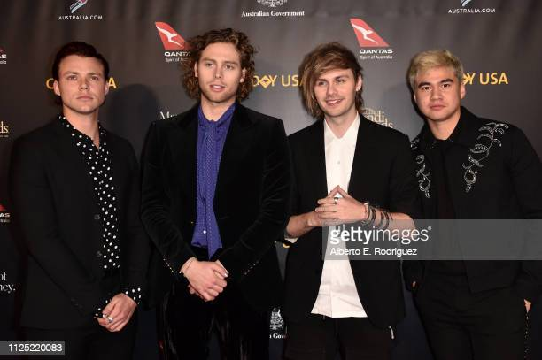 Luke Hemmings Ashton Irwin Michael Clifford and Calum Hood of 5 Seconds of Summer attend the 16th annual G'Day USA Los Angeles Gala at 3LABS on...