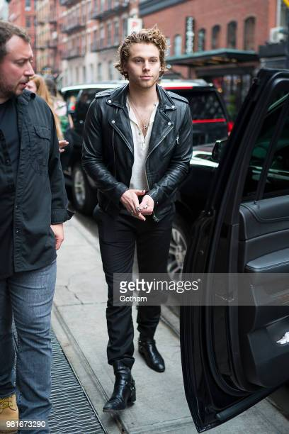 Luke Hemmings of 5 Seconds of Summer is seen in the Lower East Side on June 22 2018 in New York City