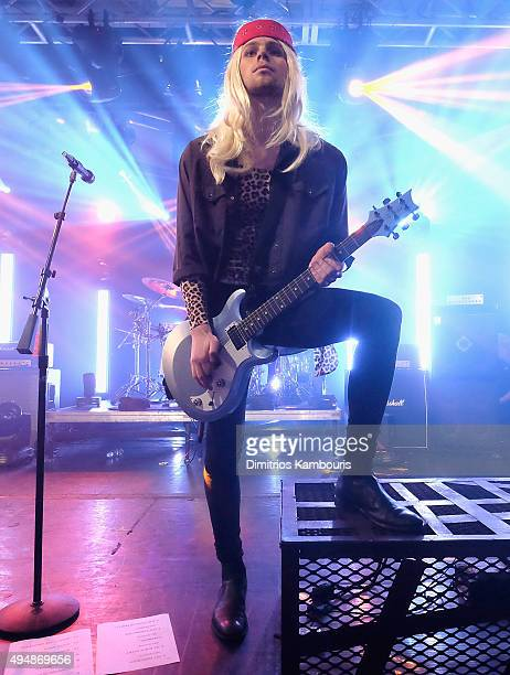 Luke Hemmings of 5 Seconds of Summer performs at the iHeartRadio Halloween LIVE event at the iHeartRadio Theater presented by PC Richard Son on...