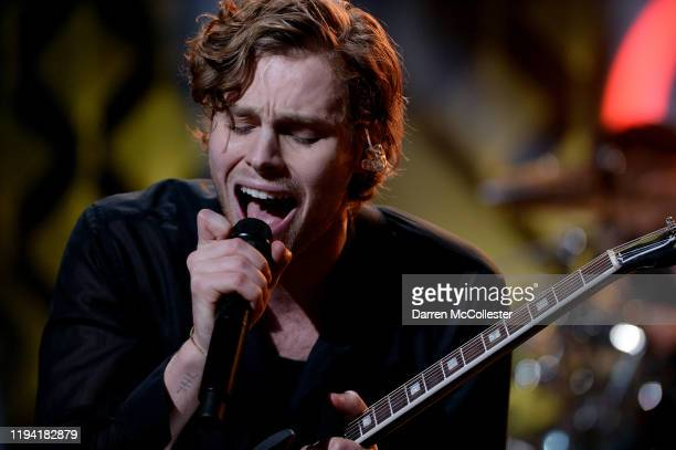Luke Hemmings of 5 Seconds of Summer performs onstage during KISS 108's iHeartRadio Jingle Ball 2019 on December 15, 2019 in Boston, Massachusetts. 5...