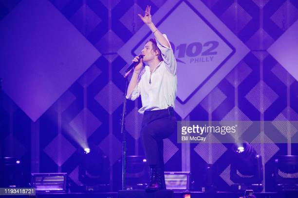 Luke Hemmings of '5 Seconds of Summer' performs onstage during Q102's Jingle Ball 2019 Presented by Capital One at Wells Fargo Center on December 11...