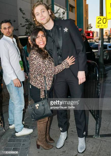 Luke Hemmings of music band '5 Seconds Of Summer' is seen on March 14 2019 in Los Angeles California