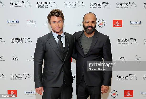 Luke Hemsworth and Jeffrey Wright attend an 'In Conversation' during day five of the 13th annual Dubai International Film Festival held at the...