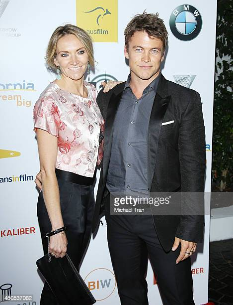 Luke Hemsworth and Samantha Hemsworth arrive at Australians In Film's 6th Annual Heath Ledger Scholarship dinner held at SLS Hotel at Beverly Hills...