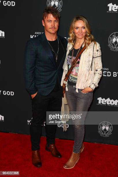 """Luke Hemsworth and Samantha Hemsworth arrive at Teton Gravity Research's """"Andy Iron's Kissed By God"""" World Premier at Regency Village Theatre on May..."""