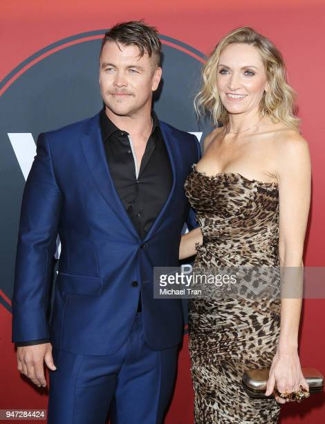 """Luke Hemsworth and Samantha Hemsworth arrive at the Los Angeles premiere of HBO's """"Westworld"""" season 2 held at The Cinerama Dome on April 16, 2018 in..."""