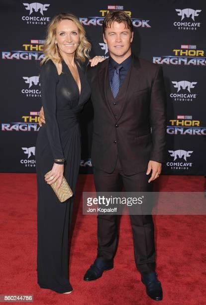 "Luke Hemsworth and Samantha Hemsworth arrive at the Los Angeles Premiere ""Thor: Ragnarok"" on October 10, 2017 in Hollywood, California."