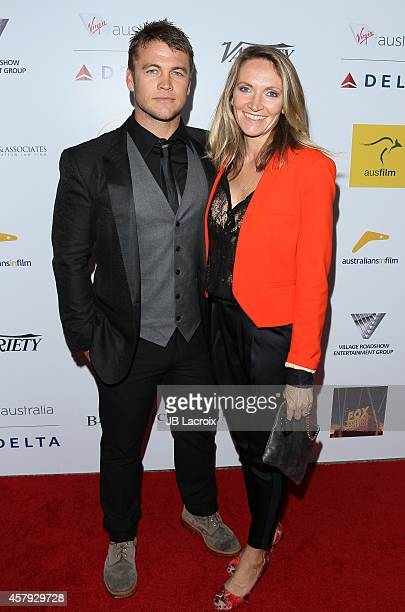 Luke Hemsworth and Samantha Hemsworth attend the 3rd Annual Australians in Film Awards Benefit Gala at the Fairmont Miramar Hotel on October 26 2014...