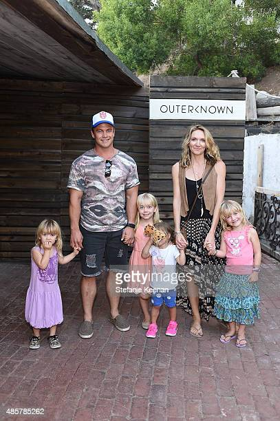 Luke Hemsworth Samantha Hemsworth and children attend Kelly Slater John Moore and Friends Celebrate the Launch of Outerknown at Private Residence on...