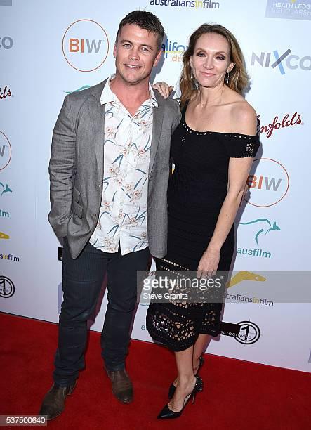 Luke Hemsworth, Samantha Hemsworth arrives at the Australians In Film: Heath Ledger Scholarship Dinner on June 1, 2016 in Beverly Hills, California.