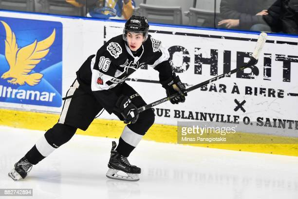 Luke Henman of the BlainvilleBoisbriand Armada skates against the BaieComeau Drakkar during the QMJHL game at Centre d'Excellence Sports Rousseau on...