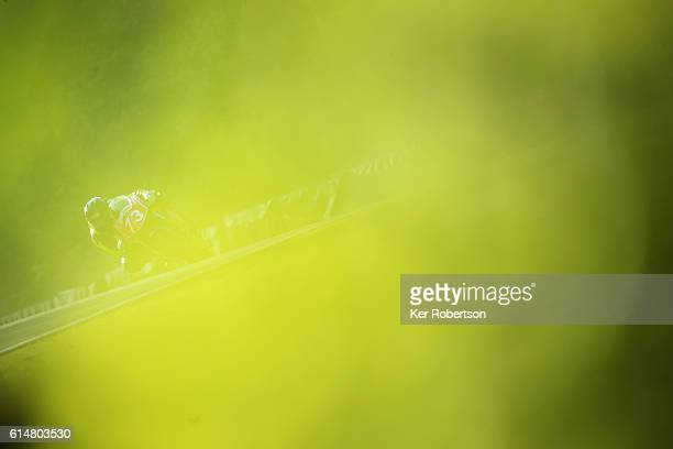 Luke Hopkins of Honda NSF team competes in the British Motostar Championship at Brands Hatch on October 15 2016 in Longfield England