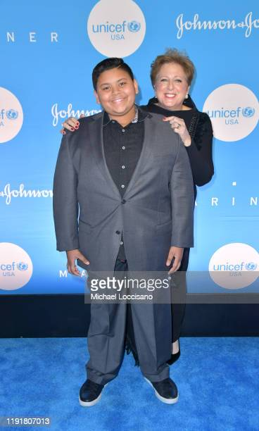Luke Islam and Caryl M Stern at the 15th Annual UNICEF Snowflake Ball 2019 at 60 Wall Street Atrium on December 03 2019 in New York City