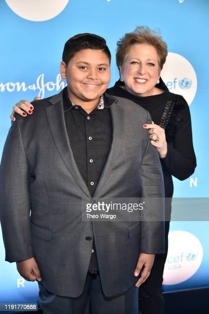 Luke Islam and Caryl Stern attend the 15th Annual UNICEF Snowflake Ball at Cipriani Wall Street on December 03 2019 in New York City