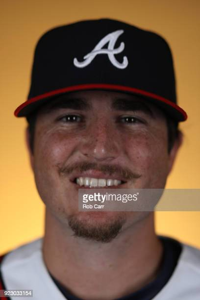 Luke Jackson of the Atlanta Braves poses for a photo during photo days at Champion Stadium on February 22 2018 in Lake Buena Vista Florida
