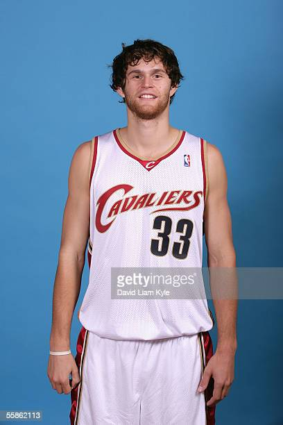 Luke Jackson of the Cleveland Cavaliers poses for a head shot during Cavs media day at Gund Arena on October 3 2005 in Cleveland Ohio NOTE TO USER...