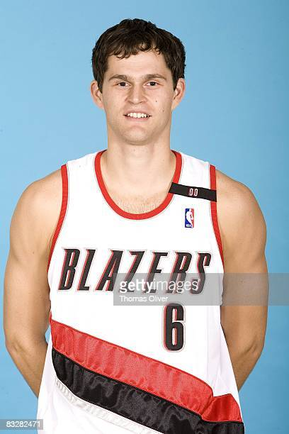 Luke Jackson of the Portland Trail Blazers poses for a portrait during NBA Media Day on September 29 2008 at the Rose Garden in Portland Oregon NOTE...