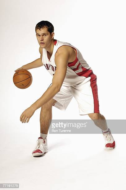 Luke Jackson of the Toronto Raptors poses for a portrait during NBA Media Day on September 28 2007 at the Air Canada Center in Toronto Canada NOTE TO...