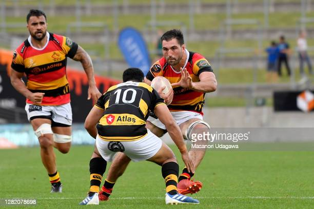 Luke Jacobson of Waikato in action during the round 7 Mitre 10 Cup match between Waikato and Taranaki at FMG Stadium on October 25 2020 in Hamilton...