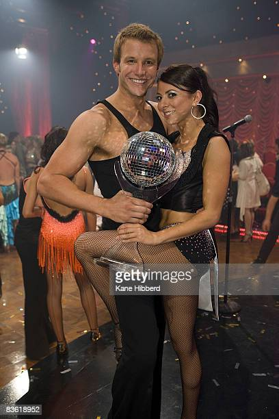 Luke Jacobz and Luda Kroitor arrive for the grand final event for Dancing With The Stars 2008 at the Channel Seven studios on November 8 2008 in...