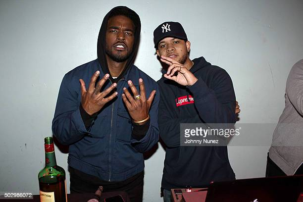 Luke James and Chase B attend S.O.B.'s on December 30 in New York City.
