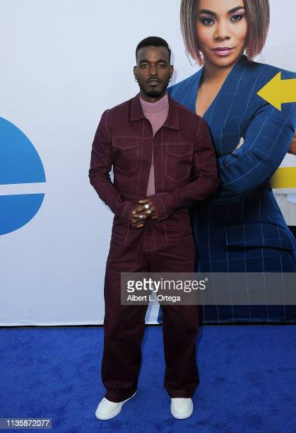 """Luke James arrives for The Premiere Of Universal Pictures """"Little"""" held at Regency Village Theatre on April 8, 2019 in Westwood, California."""