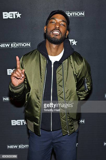 Luke James attends BET's screening of The New Edition Story on January 3 2017 in Chicago Illinois