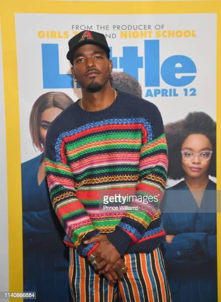 "Luke James attends ""Little"" Atlanta Premiere at Regal Atlantic Station on April 4, 2019 in Atlanta, Georgia."