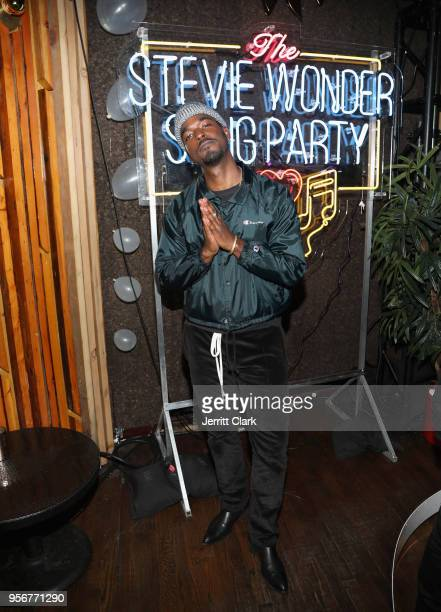 Luke James attends The Stevie Wonder Song Party at The Peppermint Club on May 9 2018 in Los Angeles California