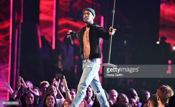 Luke James of the adult cast of 'The New Edition Story' performs onstage at 2017 BET Awards at Microsoft Theater on June 25 2017 in Los Angeles...