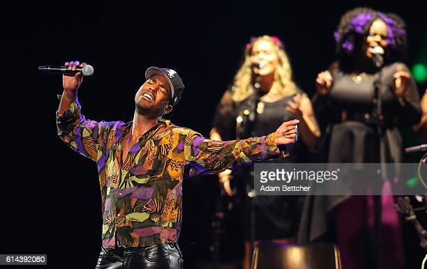 Luke James performs during the 'Official Prince TributeA Celebration of Life and Music' concert at Xcel Energy Center on October 13 2016 in St Paul...
