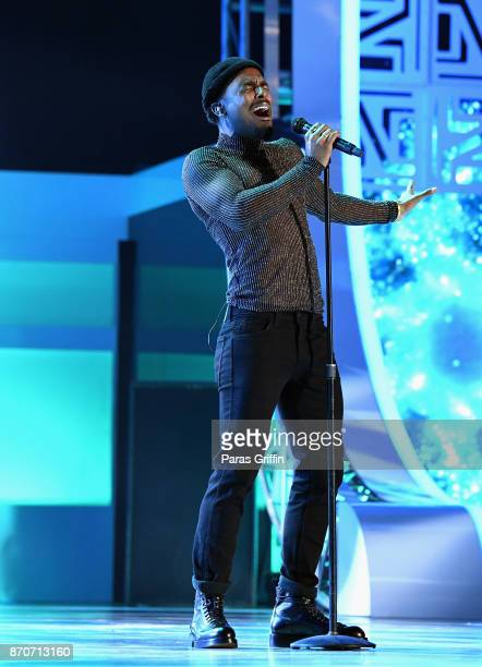 Luke James performs onstage at the 2017 Soul Train Awards presented by BET at the Orleans Arena on November 5 2017 in Las Vegas Nevada