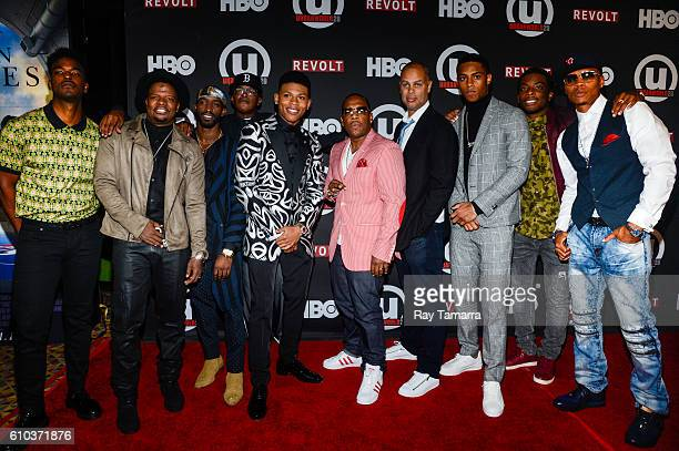 Luke James Ricky Bell Elijah Kelley Brooke Payne Bryshere Y Gray Michael Bivins Jesse Collins Keith Powers Woody McClain and Ronnie DeVoe attends the...