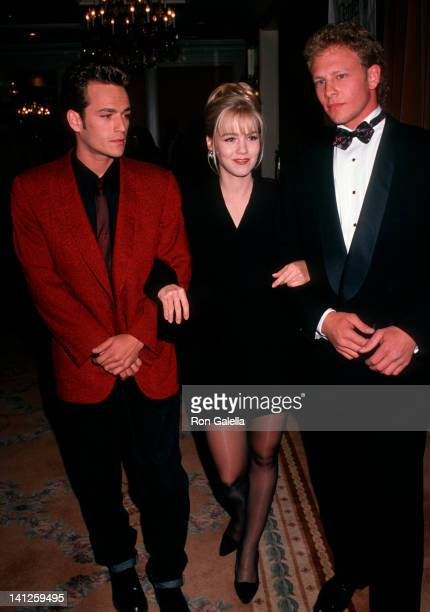 Luke Jenny Garth and Ian Ziering at the Nancy Reynolds Awards Beverly Wilshire Hotel Beverly Hills