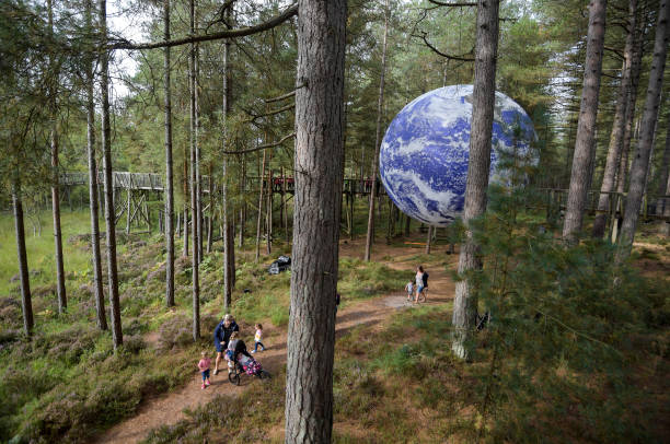 GBR: Luke Jerram's Installation Gaia On Display At Moors Valley Country Park