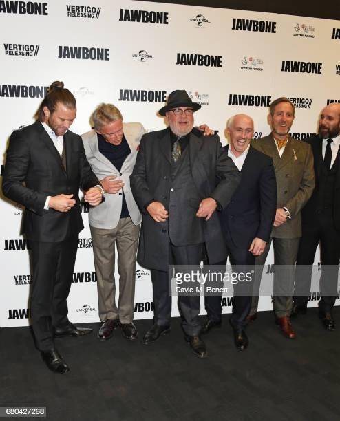 Luke JI Smith Paul Weller Ray Winstone Barry McGuigan Michael Smiley and Johnny Harris attend the UK Premiere of 'Jawbone' at BFI Southbank on May 8...