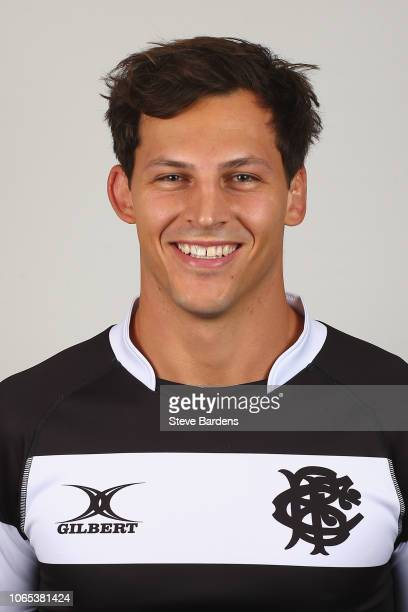 Luke Jones of the Barbarians poses for a portrait during the Barbarians Squad Photocall at Hilton Park Lane on November 26 2018 in London England The...