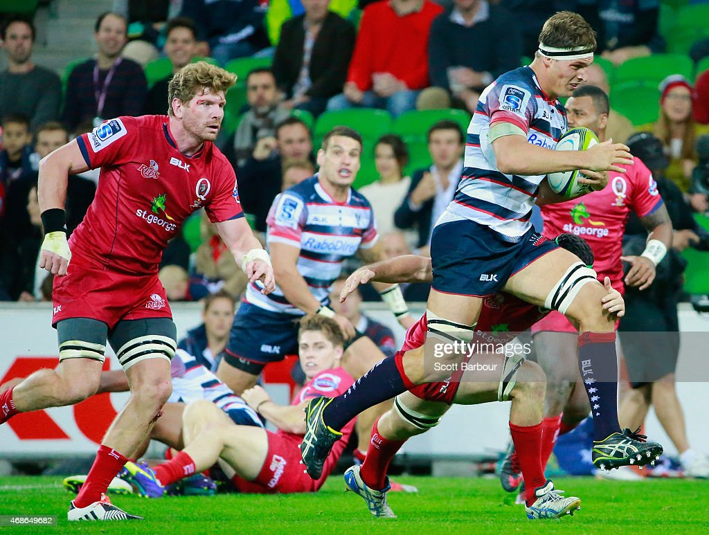 Super Rugby Rd 8 - Rebels v Reds : News Photo