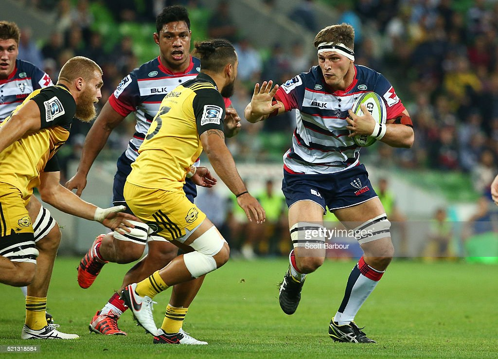 Super Rugby Rd 8 - Rebels v Hurricanes : News Photo