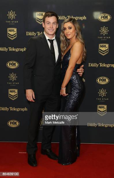 Luke Keary and Amy keary arrive ahead of the 2017 Dally M Awards at The Star on September 27 2017 in Sydney Australia