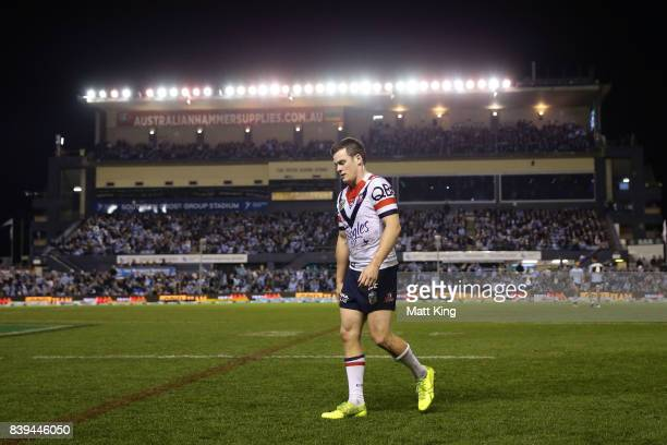 Luke Keary of the Roosters is sent to the sin bin during the round 25 NRL match between the Cronulla Sharks and the Sydney Roosters at Southern Cross...