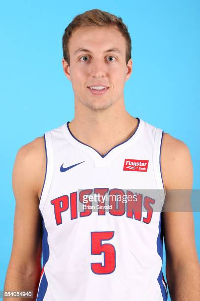 Luke Kennard of the Detroit Pistons poses for a head shot during media day at Little Caesars Arena in Detroit Michigan on September 25 2017 NOTE TO...