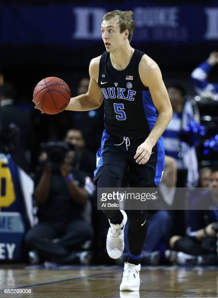 Luke Kennard of the Duke Blue Devils in action against the Notre Dame Fighting Irish during the championship game of the 2017 Men's ACC Basketball...