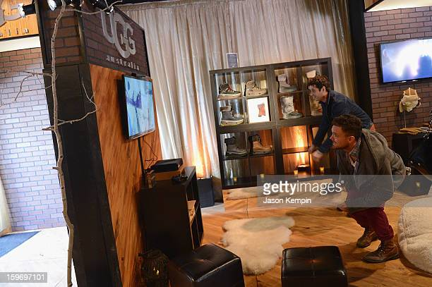 Luke Kirby and Clayne Crawford attend Day 1 of UGG at Village At The Lift 2013 on January 18 2013 in Park City Utah