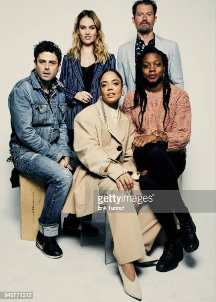Luke Kirby, Lily James, Tessa Thompson, James Badge Dale and Nia DaCosta of the film Little Woods pose for a portrait during the 2018 Tribeca Film...