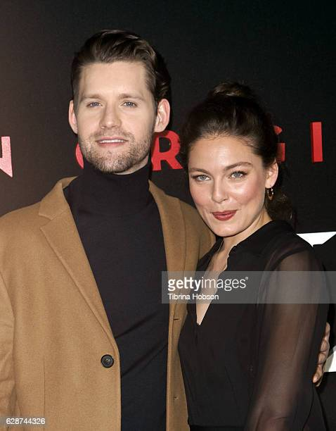 Luke Kleintank and Alexa Davalos attend the Premiere Of Amazon's 'Man In The High Castle' Season 2 at Pacific Design Center on December 8 2016 in...