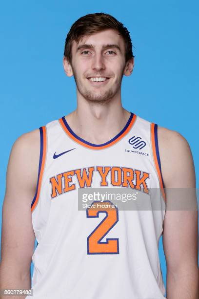 Luke Kornet of the New York Knicks poses for a head shot at the New York Knicks Practice Center on October 11 2017 in Tarrytown New York NOTE TO USER...