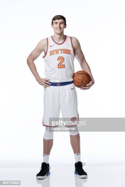 Luke Kornet of the New York Knicks poses for a portrait during Media Day on September 25 2017 at the Knicks Practice Center in Tarrytown New York...
